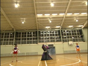Live Action Pretty Guardian Sailor Moon Act 17 - Sailor Mars and Sailor Venus in the St. Juban Church gymnasium