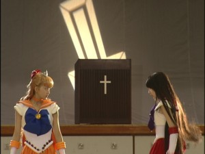 Live Action Pretty Guardian Sailor Moon Act 17 - Sailor Venus and Sailor Mars face off