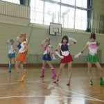 Live Action Pretty Guardian Sailor Moon Act 18 - The Sailor Team with Sailor Moon in the middle