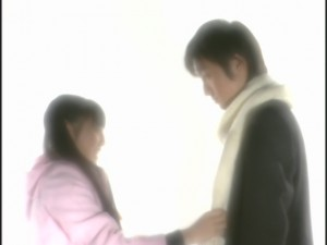 Live Action Pretty Guardian Sailor Moon Act 18 - Usagi images placing a scarf on Mamoru