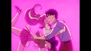 Sailor Moon R episode 60 - Japanese Blu-Ray - Chibiusa kissing Mamoru