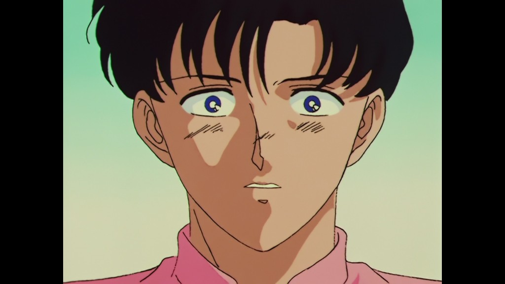 Sailor Moon R episode 61 - Japanese Blu-Ray - Mamoru shocked