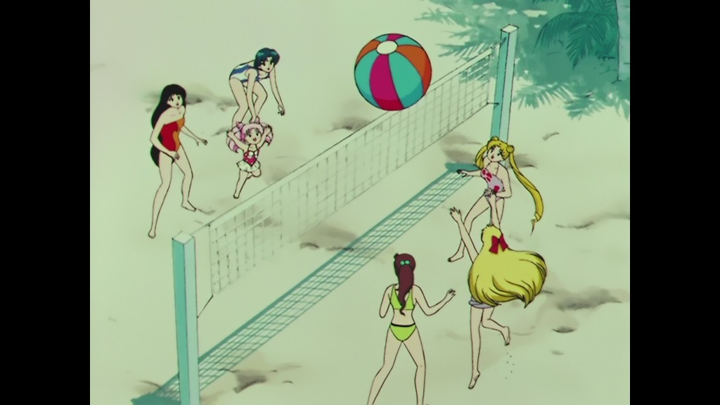 Sailor Moon R episode 67 - Japanese Blu-Ray - Beach volleyball