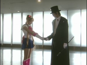 Live Action Pretty Guardian Sailor Moon Act 19 - Sailor Moon gives chocolate to Tuxedo Mask