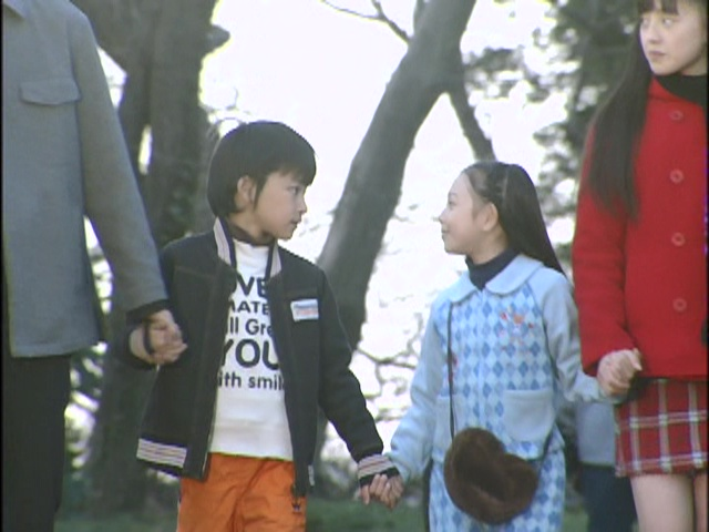 Live Action Pretty Guardian Sailor Moon Act 20 - Daichi and Hikari hold hands