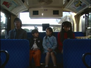 Live Action Pretty Guardian Sailor Moon Act 20 - Mamoru, Daichi, Hikari and Usagi on a bus