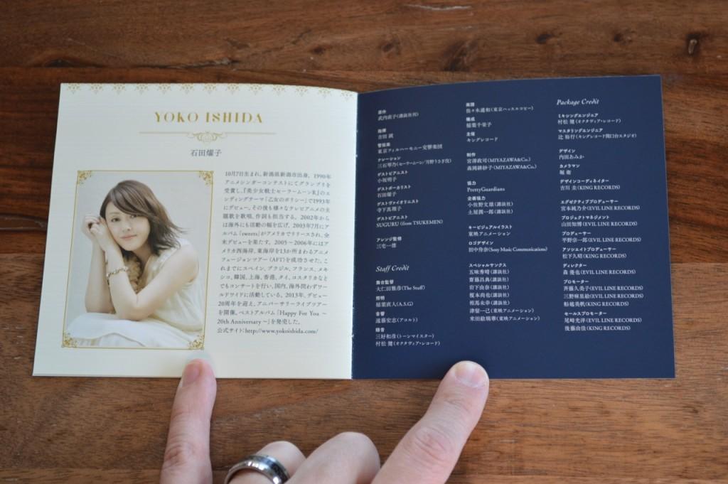 Pretty Guardian Sailor Moon Classic Concert CD - Booklet 4 - Yoko Ishida