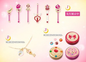 Sailor Moon The Miracle 4-D Attraction - Goods - Pins, necklace ...
