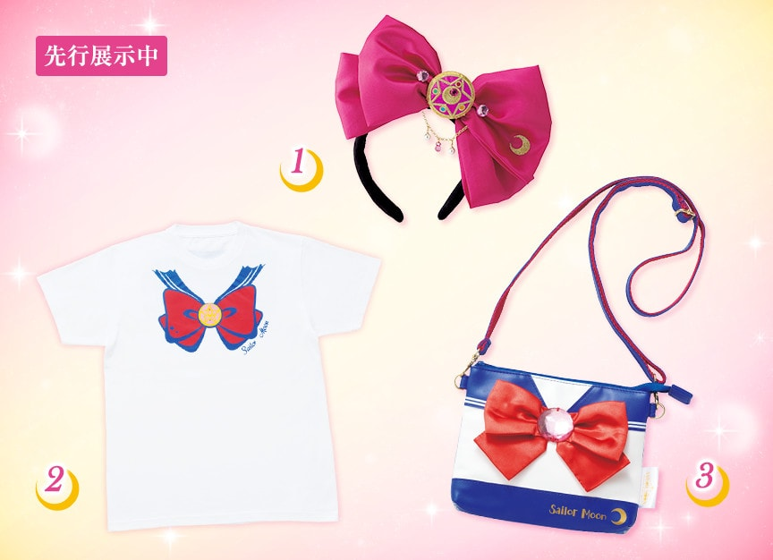 Sailor Moon The Miracle 4-D Attraction - Goods - Shirt, purse, headband