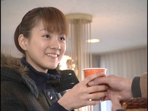 Live Action Pretty Guardian Sailor Moon Act 21 - Motoki gives Makoto a cup of coffee