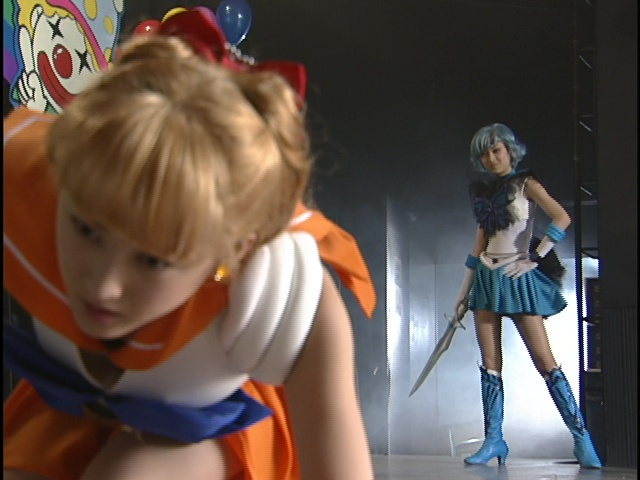 Live Action Pretty Guardian Sailor Moon Act 22 - Sailor Venus beaten by Dark Mercury