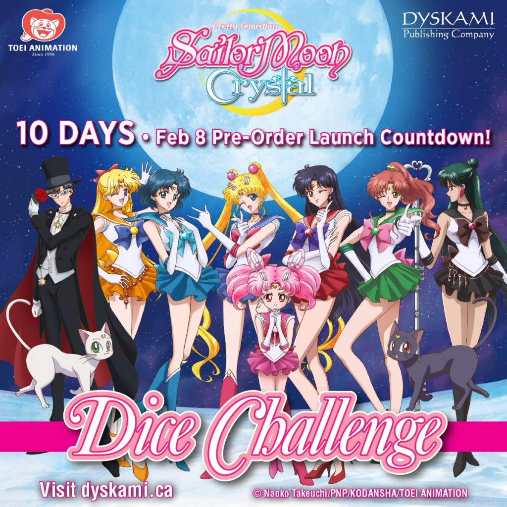 Sailor Moon Crystal Dice Challenge pre-order announcement