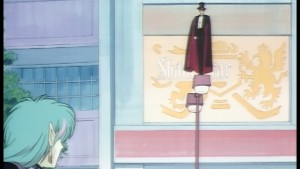 Sailor Moon R The Movie - Trailer - Mamoru in front of a billboard