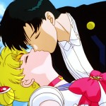 Sailor Moon R The Movie - Tuxedo Mask kisses a dead Sailor Moon