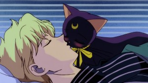 Sailor Moon S The Movie - Luna kisses Kakeru