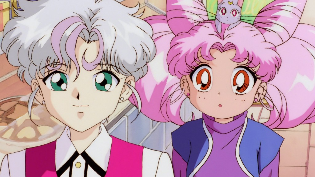 Sailor Moon SuperS The Movie - Perle, Chibiusa and Diana