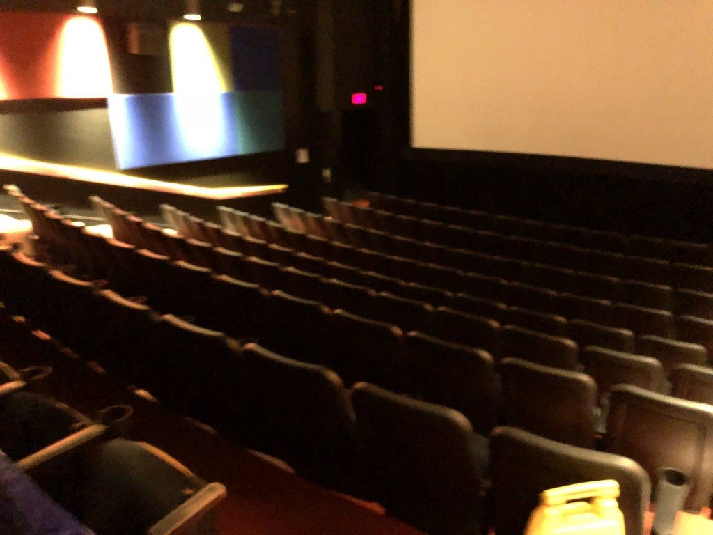An empty theatre at a Sailor Moon SuperS screening