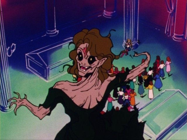 Sailor Moon episode 1 - Morga nearly kills Sailor Moon