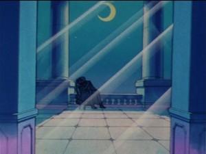 Sailor Moon episode 22 - Tuxedo Mask kissing a drunk Usagi