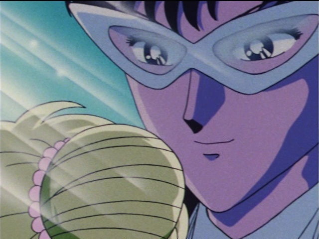 Sailor Moon episode 22 - Tuxedo Mask takes advantage of a drunk Usagi