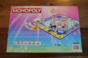Sailor Moon Monopoly - Back of the box