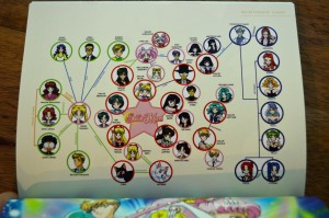 Sailor Moon Blu-Ray booklet - Sailor Moon S - Relationship chart