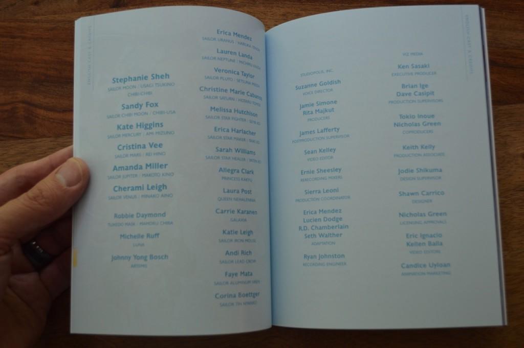 Sailor Moon Sailor Stars Part 1 Blu-Ray - Booklet - Cast