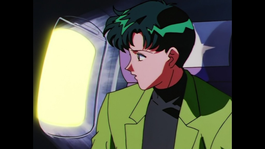 Sailor Moon Sailor Stars Viz Blu-Ray - Mamoru sees something on the wing