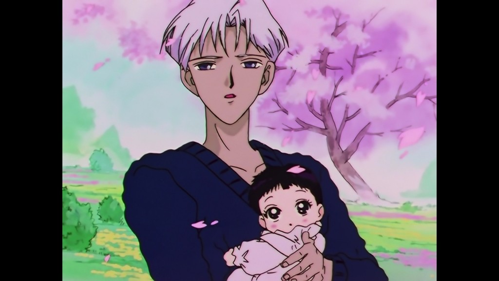 Sailor Moon Sailor Stars Viz Blu-Ray - Professor Tomoe and Baby Hotaru