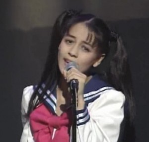 Anza as Usagi from the first Sailor Moon musical