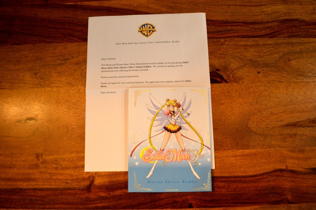 Sailor Moon Sailor Stars Blu-Ray Limited Edition Booklet - Replacement - Replacement Booklet with Letter
