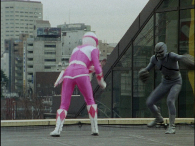 Zyurangers episode 1 - The Pink Ranger fights a Golem or Putty