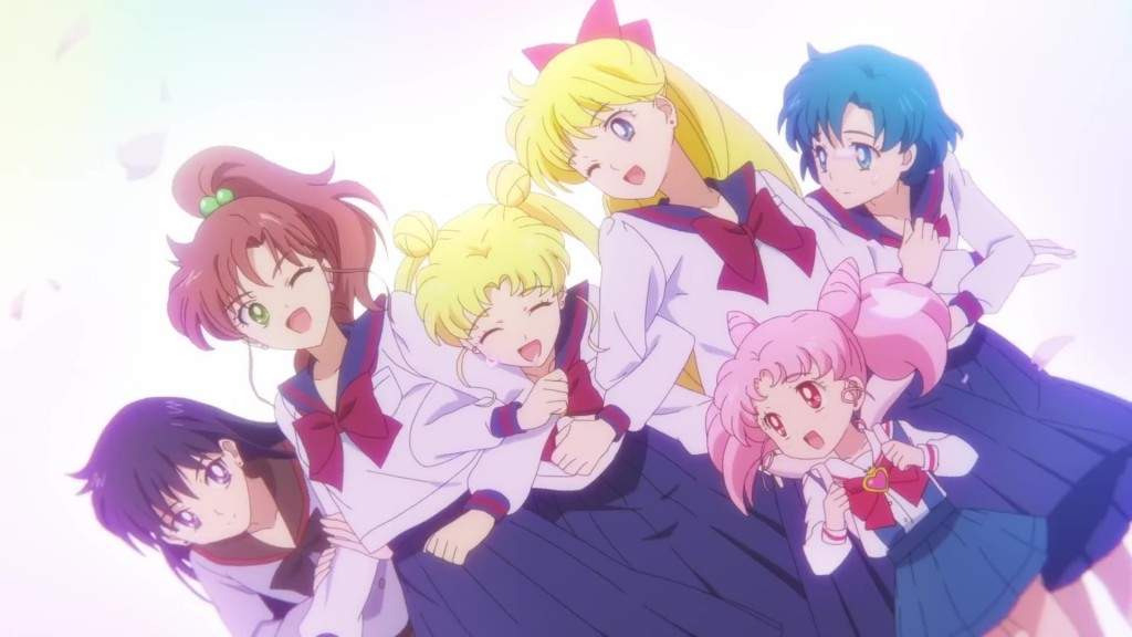 Sailor Moon Eternal trailer - The gang in their high school uniforms