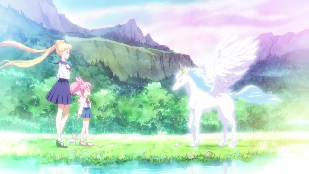 Sailor Moon Eternal trailer - Usagi and Chibiusa meet Pegasus