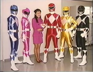 Naoko Takeuchi with the Zyurangers