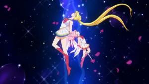 Sailor Moon Eternal Part 1 - Transformation Sequence - Super Sailor Moon and Super Sailor Chibi Moon