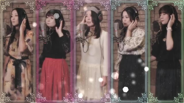 Moon Color Chaining - Momoiro Clover Z and the Five Sailor Guardians - The actresses for the Sailor Guardians singing