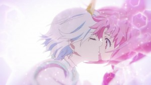 Sailor Moon Eternal - Helios kissing Chibiusa