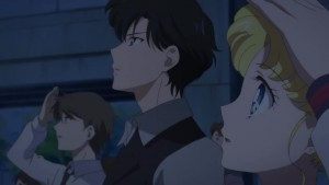 Sailor Moon Eternal - Mamoru and Usagi watching the eclipse