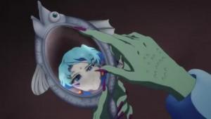 Sailor Moon Eternal - Fish Eye looking at a mirror