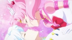 Sailor Moon Eternal Part 2 - Sailor Chibi Moon kisses Helios