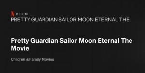 Pretty Guardian Sailor Moon Eternal The Movie on Netflix
