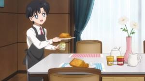 Pretty Guardian Sailor Moon Eternal Part 2 - Young Mamoru serving breakfast