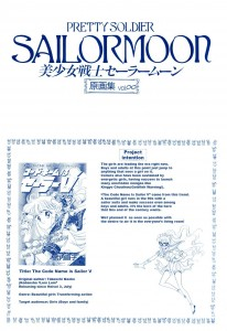 Sailor Moon Volume Infinity art book - Sailor V information